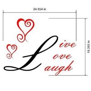 Live Love Laugh Wall Art Wall Decals   Made In USA Color 1 black Color