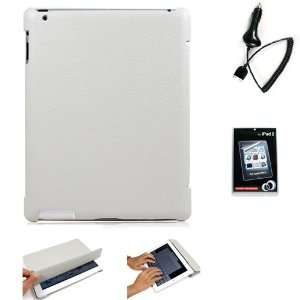 Grey Folio Styled Durable Faux Leather Shell Case and Stand with Auto