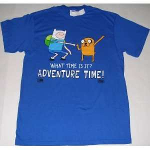 Mens CN Cartoon Network Adventure Time Show Finn & Jake NEW T Shirt T