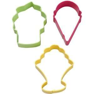 ICE CREAM 3 PC COOKIE CUTTER SET W0992: Kitchen & Dining