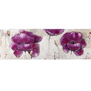 Yosemite Home Decor YA100125A Purple Burst I Hand Painted