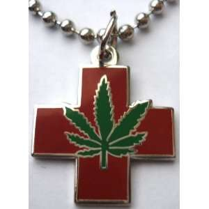 Medical Marijuana Pot Hemp Legalize Cannabis Weed Pendant