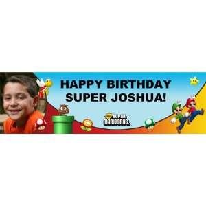Super Mario Bros. Personalized Photo Banner Medium 24 x