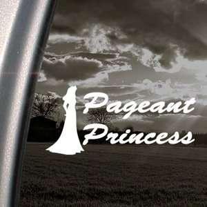 Pageant Princess Beauty Queen Decal Window Sticker