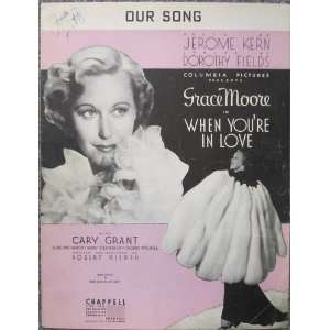 OUR SONG WHEN YOURE IN LOVE MOVIE PIANO PIANO SHEET MUSIC