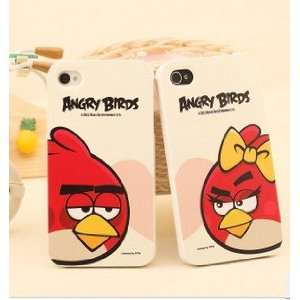 Angry Birds Iphone 4 4s Hard Case   Female&white Color