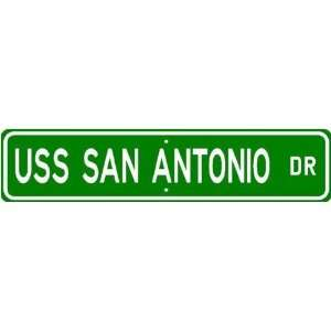 USS SAN ANTONIO LPD 17 Street Sign   Navy Sports