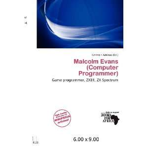 Evans (Computer Programmer) (9786200655882) Germain Adriaan Books