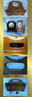 VERY RARE JUNGHANS ART NOUVEAU BRACKET CLOCK/VISIBLE PENDULUM & BIM