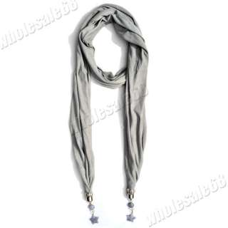 New fashion jewelry Scarve wholesale lot gray Necklace pashmina Scarf