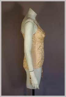 Vintage 40s Pink Jacquard Boned Open Bottom Merry Window Girdle w
