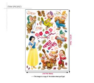 DISNEY PRINCESS SNOW WHITE Wall Decor Sticker Decal Kid