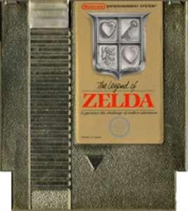 THE LEGEND OF ZELDA GOLD CART   RARE NES Nintendo Game