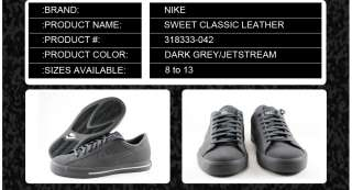 318333 042] NIKE SWEET CLASSIC LEATHER DARK GREY/JETSTREAM MEN SIZES