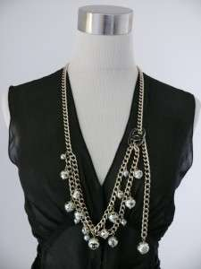 AUTH CHANEL 06A CUTE CHARMS PEARL CC LOGO BELT NECKLACE