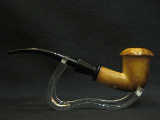 CALABASH Meerschaum Pipe BURNT ART Tobacco Smoking Pipes Gift CASE
