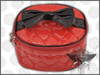 SB238 Red Love Heart Bowknot Women Cosmetic Makeup Bag Convenient
