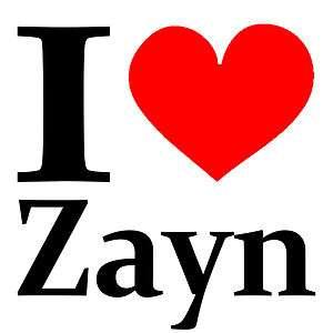 NEW Screen Printed TShirt I Heart Zayn Malik One Direction S 3XL Free