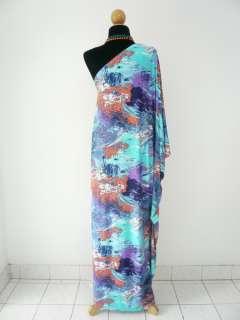 Multi~color cocktail retro vintage~boho~maxi~hippy~long dress S M L