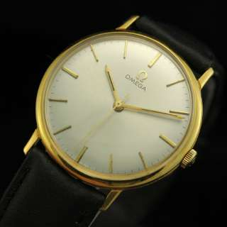 VINTAGE OMEGA 18K SOLID YELLOW GOLD MENS WATCH