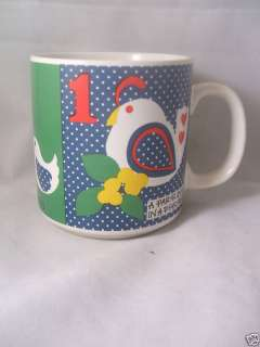 GRANT HOWARD 12 DAYS OF CHRISTMAS COFFEE MUG CUP 123