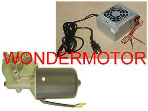 Reversible PMDC Electric Gear Motor 12v Gearmotor DC + Power Supply