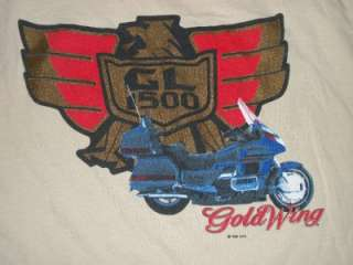 Vtg 1988 GOLDWING MOTORCYCLE GL 1500 SHIRT retro 80s