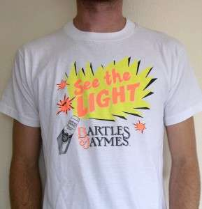Vtg BARTLES & JAYMES T SHIRT retro punk emo 80s old