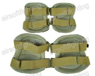 Tactical Combat Knee&Elbow Protective Pads Set TAN A