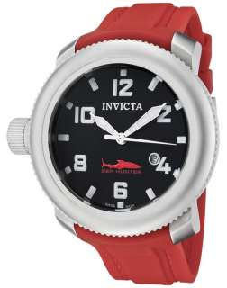 Invicta 1691 Sea Hunter Stainless Steel Red Watch