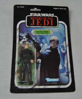 Star Wars ROTJ Luke Skywalker Jedi Knight Green Lightsaber 77 Back