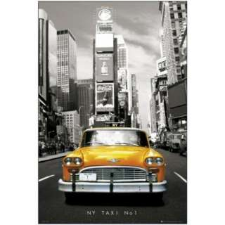 New York Taxi No. 1 Maxi Poster Times Square Yellow Cab