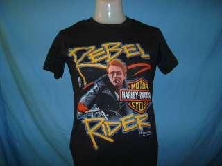 vintage JAMES DEAN HARLEY DAVIDSON REBEL NWT t shirt YM