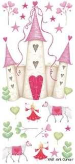 Princess Castle Nursery/Girls Wall Sticker Decals Mural