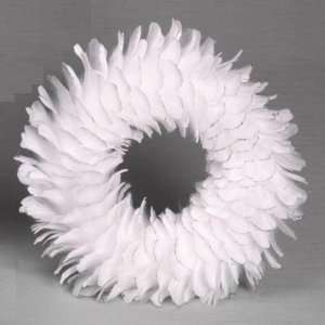 Feather Wreath with Sliver Glitter (14) ~ Holiday Christmas Wreath