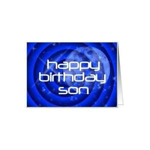 Happy Birthday Son Abstract Outer Space Card: Toys & Games