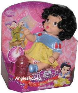 Disney Princess SNOW WHITE Sparkle Baby Doll with Sound