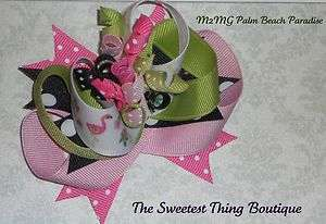 M2MG Palm Beach Paradise Boutique Style Hair Bow