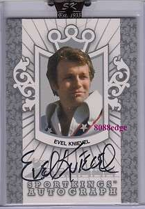 2007 SPORT KINGS AUTO SILVER EVEL KNIEVEL /99 AUTOGRAPH MOTORCYCLE