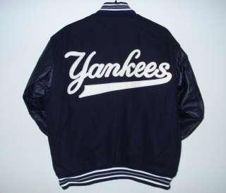 SIZE XXXL MLB NEW YORK YANKEES Wool LEATHER REVERSIBLE JACKET 3XL