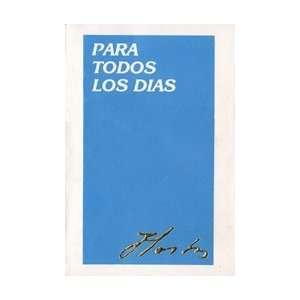 Para todos los días (9780865815322) Eugenio María de Hostos Books