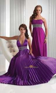 Purple Wedding dress Bridesmaid/prom gown Evening Dress