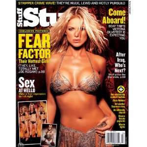 March 2003] Victoria Silvstedt, Fear Factor Girls:  Books