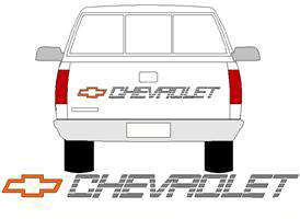 454 SS CHEVY TRUCK TAILGATE DECAL 90 91 or 92 93 CHEVROLET with COLOR