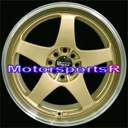 18 18x8.5 18x9.5 XXR 962 Gold Machine Lip Staggered Rims Wheels Nissan