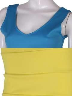 NECK COLOR BLOCK VEST DRESS 2348