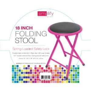 18 Inch Folding Step Stool with Spring Loaded Safety Lock