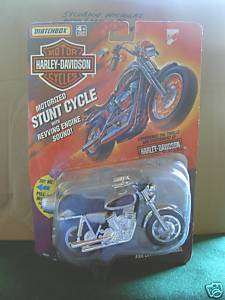 Matchbox HARLEY DAVIDSON STUNT CYCLE Silver Motorized