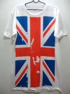 UK British Union Jack Flag Punk Rock Metal T Shirt XL