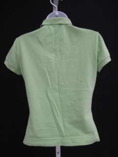 LACOSTE Lime Green Cap Sleeve Polo Shirt Top Sz 40
